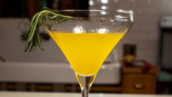 Smoked Rosemary, Turmeric & Mend CBD Martini